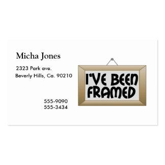 I've Been Framed Business Card