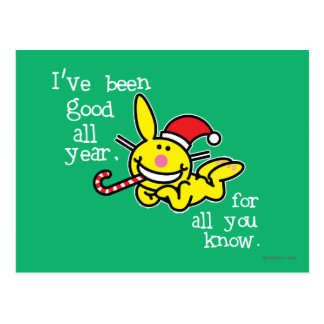 I've Been Good All Year Postcard