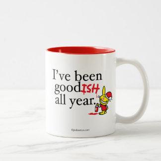 I've Been Goodish All Year Two-Tone Coffee Mug