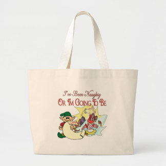 I've Been Naughty or I'm Going To Be! Jumbo Tote Bag