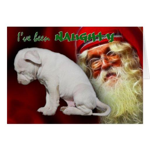 I've been Naughty ... Santa's Naughty & Nice List Greeting Card