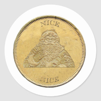 I've been Nice, Santa Coin Stickers