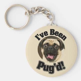 I've Been Pug'd - Funny Pug Keychain
