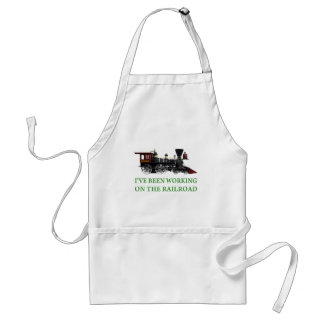 I've Been Working On The Railroad Adult Apron