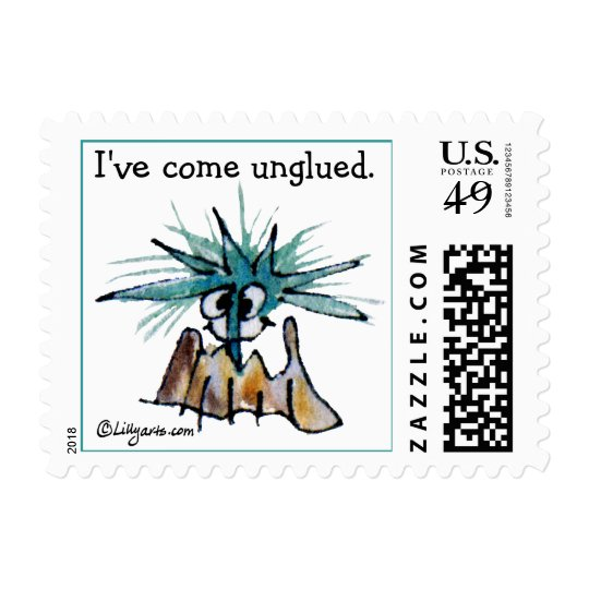 I've Come Unglued Small Custom Postage Stamp