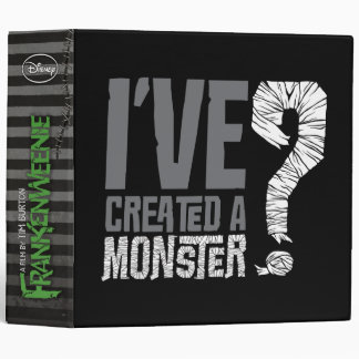 I've Created a Monster 3 Ring Binder