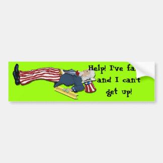I've Fallen And I Can't Get Up! Car Bumper Sticker