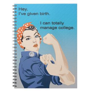 I've given birth... spiral notebook