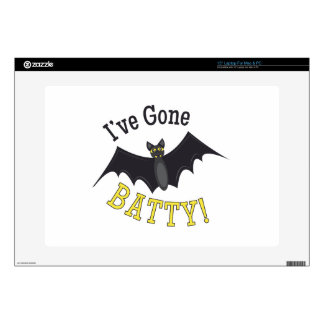 """Ive Gone Batty Decal For 15"""" Laptop"""