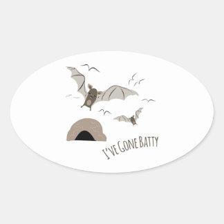 Ive Gone Batty Oval Sticker