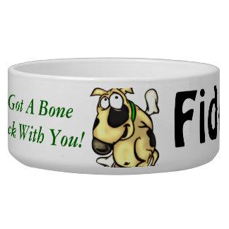 I've Got A Bone To Pick Customized Dog Bowls