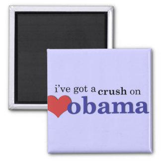 I've got a crush on Obama 2 Inch Square Magnet