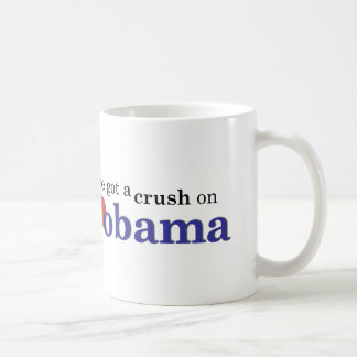 I've got a crush on Obama Classic White Coffee Mug