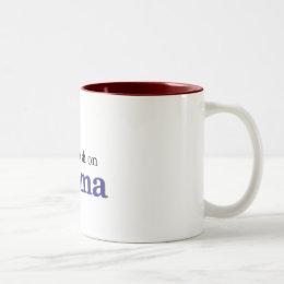 I've got a crush on Obama Two-Tone Coffee Mug