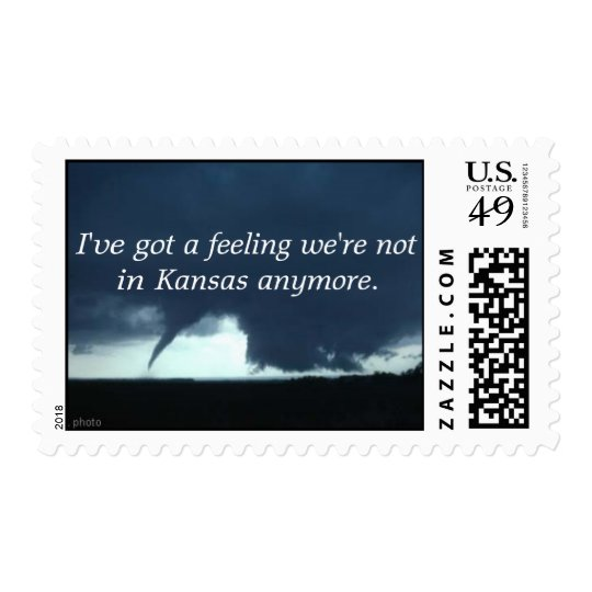 I've got a feeling we're not in Kansas Stamp