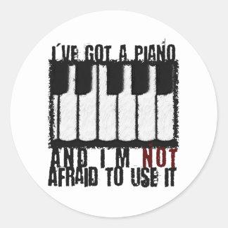 I've Got a Piano Classic Round Sticker