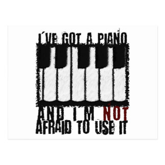 I've Got a Piano Postcard
