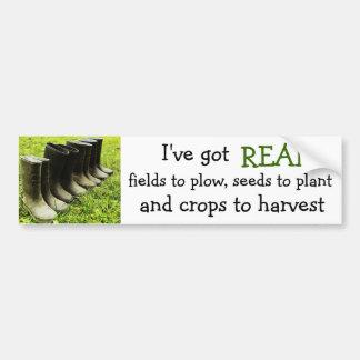 I've got a REAL farm! - Gumboots Photo Bumper Sticker