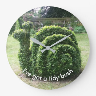 I've got a tidy bush. Topiary snail unique design Large Clock