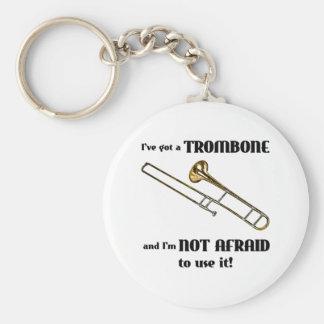 I've Got a Trombone Basic Round Button Keychain