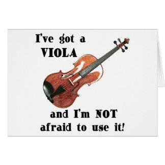 I've Got a Viola Card
