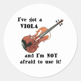 I've Got a Viola Classic Round Sticker