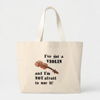 I've Got a Violin Large Tote Bag