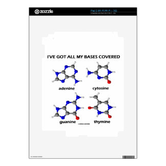 I've Got All My Bases Covered DNA Nucleotide Base iPad 2 Skin