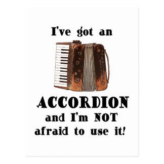 I've Got an Accordion Postcard
