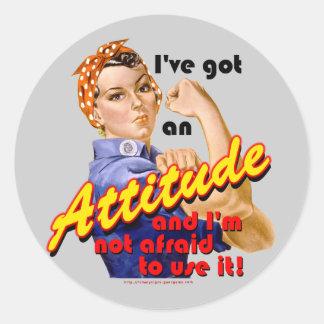I've Got an Attitude Classic Round Sticker
