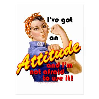 I've Got an Attitude Postcard