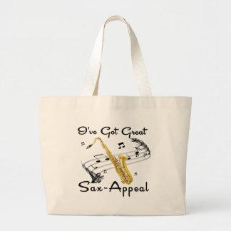 I've Got Great Sax-Appeal Jumbo Tote Bag
