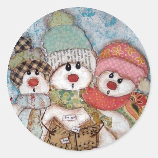 I've Got Joy,Joy, Joy,Joy, Joy in My Heart! Classic Round Sticker