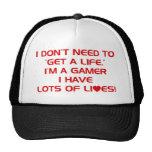 I've Got Lots Of Lives - Gamer Gaming Video Games Mesh Hat