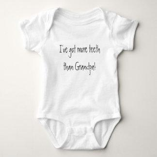 I've got more teeth than Grandpa! Funny Baby Baby Bodysuit