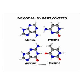 I've Got My Bases Covered (Chemistry DNA Bases) Postcard