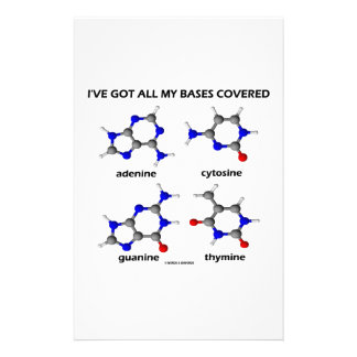 I've Got My Bases Covered (Chemistry DNA Bases) Stationery