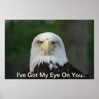 I've Got My Eye On You, One-Eyed Eagle Poster