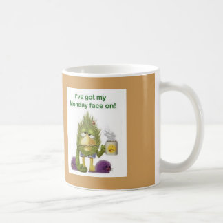 I've Got My Monday Face On Tired Bird Coffee Mug