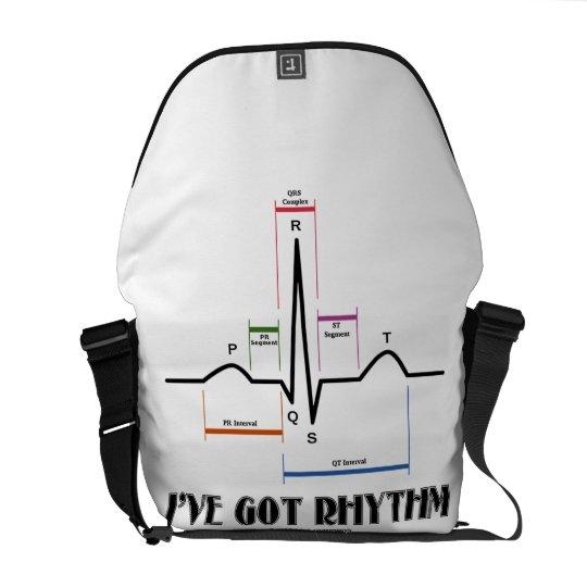 I've Got Rhythm (ECG / EKG Electrocardiogram) Courier Bag