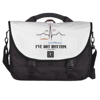 I've Got Rhythm (ECG/EKG Electrocardiogram) Laptop Commuter Bag