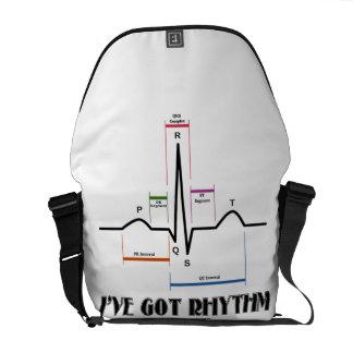 I've Got Rhythm (ECG / EKG Electrocardiogram) Commuter Bags