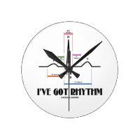 I've Got Rhythm (ECG / EKG Electrocardiogram) Round Clock