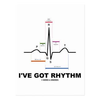 I've Got Rhythm (ECG - EKG Heart Beat) Postcard