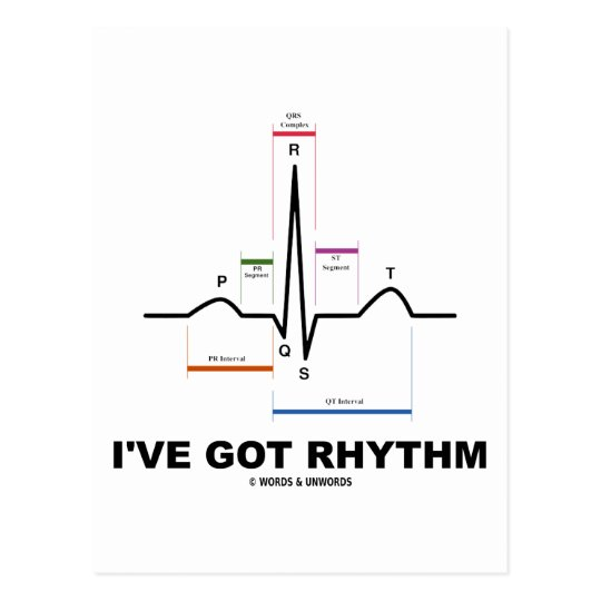 I've Got Rhythm (ECG - EKG Heart Beat) Postcard