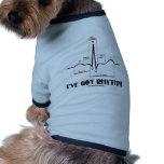 I've Got Rhythm (ECG/EKG - Oldgate Lane Outline) Pet Clothes