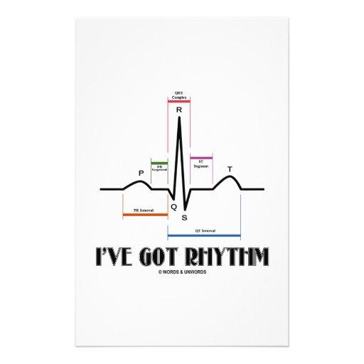 I've Got Rhythm (ECG/EKG - Oldgate Lane Outline) Stationery Design