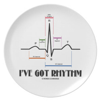 I've Got Rhythm (EKG/ECG Heartbeat) Plate