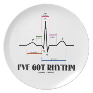 I've Got Rhythm (EKG/ECG Heartbeat) Plate