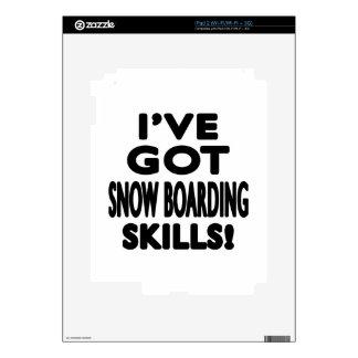 I've Got Snow Boarding Skills Skins For The iPad 2